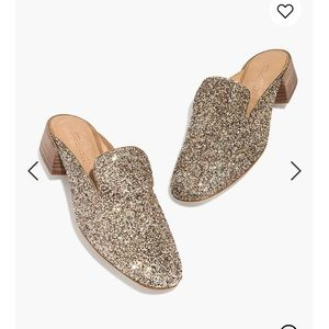 Madewell Willa Loafer Mule in Glitter